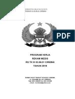 1 PROGRAM KERJA REKAM MEDIS 2018