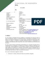 Silabo FÍSICA 1 2020-1