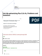 Hot dip galvanizing flux Q & A's, Problems and Solutions