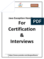 Java Exception Handling for Certification Interviews