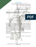 SOLICITO REPROGRAMACIÓN PARA INSTRUCTIVA.  EXP. 127-2015 ALCARRAZ OQUICHE ABELARDO