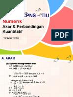 P6 - Numerik (Akar, Himpunan, Perbandingan Kuantitatif, Persamaan).pptx