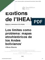 Saberes y memorias en los Andes - Los límites como problema_ mapas etnohistóricos de los Andes bolivianos - Éditions de l'IHEAL.pdf