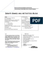 Debate Games and Activities Guide