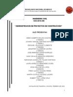4.1 administracion de proyectos de construccion