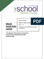 Maruti Suzuki Report