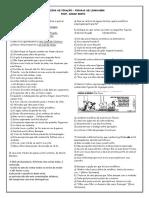 EXERCÍCIOS DE FIXAÇÃO - FIGURAS DE LINGUAGEM - ALUNO - PROF. DIOGO BRITO