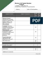 Talent Review Score Sheet