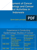 Development of Cancer Epidemiology and Cancer Control Activities in Indonesia