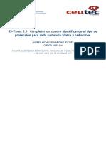 Tarea5.1 Identificar el tipo de protección para cada sustancia tóxica y radiactiva