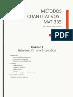 Métodos Cuantitativos I - Unidad 1.pdf