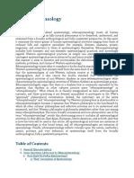 Ethnoepistemology - IEP