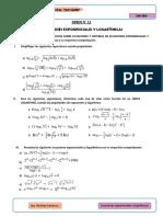 Ecuaciones y Sistemas de Ecuaciones exponenciales y logarítmicas