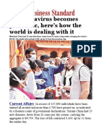 As Coronavirus Becomes Pandemic, Here's How the World is Dealing With It