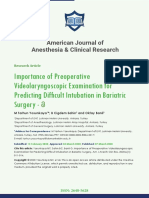 American Journal of Anesthesia & Clinical Research
