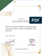 certificado aprendizagem