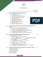 Class 4 ICSE Sample paper