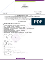 ICSE class 4 Maths sample paper