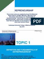TOPIC 1 Definition and Fundamentals of Entrepreneurship