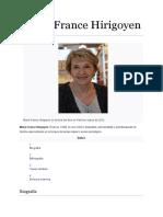 Biografía de Marie-France Hirigoyen