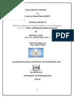 RITESH  study on Mutual Funds In HDFC