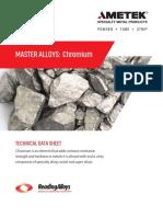 chromium master alloys datasheet