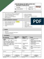 PETS-EP-OPE- 016 INSTALACION DE MANGAS DE VENTILACION CON MANIPULADOR TELESCOPICO