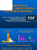 Framework of National Cancer Control Program in Indonesia
