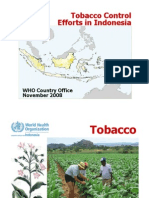 Tobacco Control Efforts in Indonesia