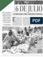 16 de julio. Cachivaches para atrapar turistas (La Razón-Escape, 02-03-08, Bolivia)
