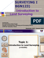 Topic 1 Introduction to Land Surveying L