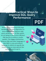 Some Practical Ways to Improve SQL Query Performance