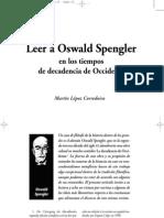 Leer a Oswald Spengler