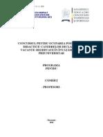 Comert Programa Titularizare 2011