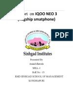 iqoo company product report