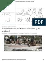 Movimiento libre y Actividad autónoma