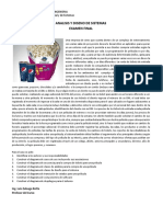 ANALISIS Y DISENO DE SISTEMAS ExamenFinal 2015