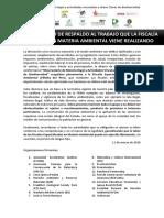 Declaracion en Favor Fiscalía Especializada en Mteria Ambiental