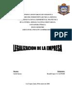 Unidad I legalizacion de la empresa