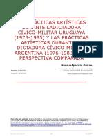 Aparicio, M. (2017). Las prácticas artísticas durante la dictadura cívico -militar uruguaya (1973-1985)