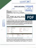 CARTA NOTARIAL N° 113202 11 FEB 2020 HIPERMERCADOS TOTTUS S.A. INFORMO QUE EXISTE PROCESO DE AMPARO Y DENUNCIA PENAL - MALL PLAZA COMAS