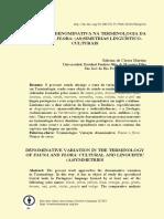 FAUNA E DA FLORA (AS)SIMETRIAS LINGUÍSTICOCULTURAIS