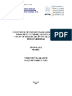 Tehnici Poligrafice Programa Titularizare 2011