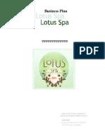 Business plan lotus spa