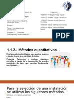 1.1.2 Metodos cuantitativos