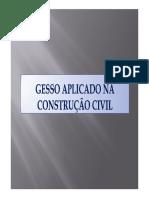 GESSO APLICADO NA CONSTRUÇÃO CIVIL