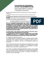CODIGO DE DEFESA DO CONSUMIDOR diretos