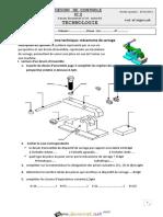 Devoir de Contrôle N°2 - Technologie mécanisme de serrage - 2ème Sciences (2013-2014) Mr mighri lotfi