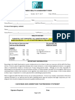 Fitness Health Assessment Form