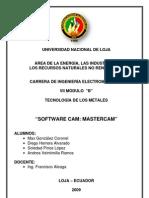 Software CAM_ Mastercam